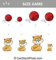 educativo, palla, game., filato, adattamento, gatti,...