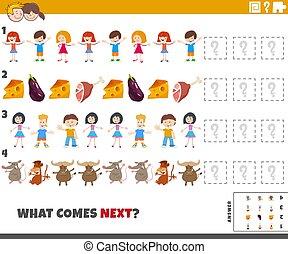educativo, preescolar, patrón, niños, elemental, tarea, edad