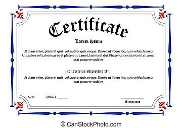 educazione, certificato