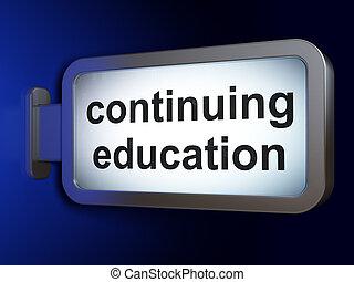 educazione, concept:, istruzione continua, su, tabellone,...