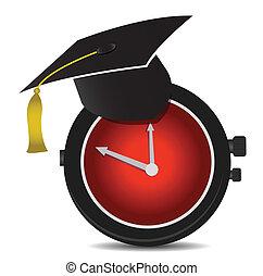 educazione, disegno, illustrazione, tempo