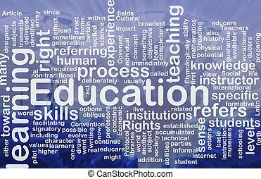 educazione, fondo, concetto