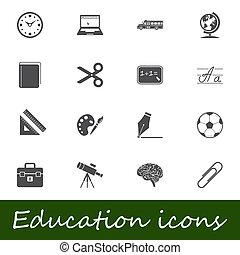 educazione, icone