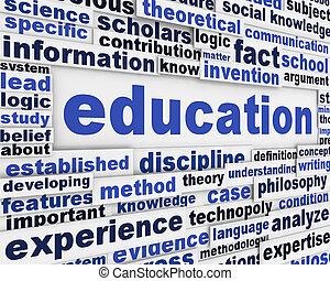 educazione, manifesto, disegno