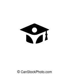 educazione, silhouette, colorare, logotype, isolato, ...