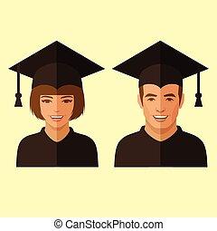 educazione, studente, laureato