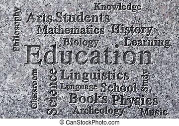 educazione, wordcloud