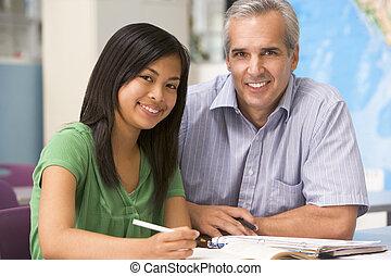 eduquer enseignant, élevé, instruit, écolière, classe
