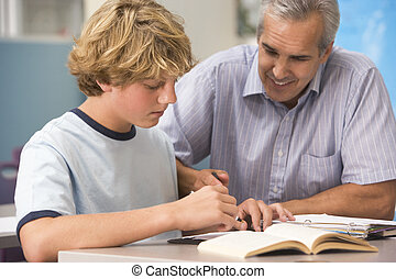 eduquer enseignant, élevé, instruit, classe, écolier