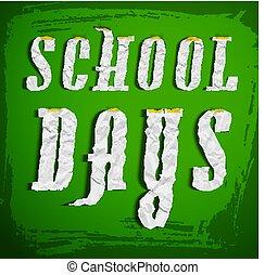 eduquer jours, fond