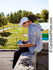 edv, teenager, tablette