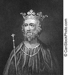Edward II of England (1284-1327) on engraving from 1830....