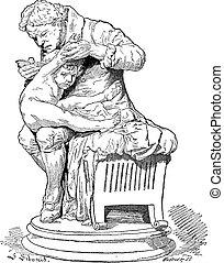 Edward Jenner, vintage engraving - Edward Jenner, Father of...