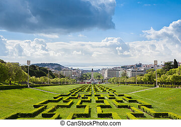 Edward vii park in Lisbon, Portugal