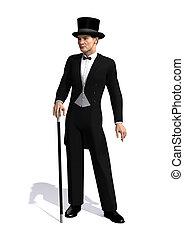 Edwardian Man - A well dressed man of the Edwardian Era...