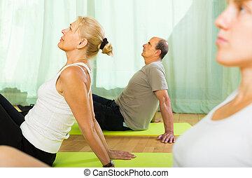 edző, párosít, öregedő