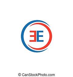 EE Company Logo Vector Template Design Illustration