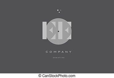 ee e e grey modern alphabet company letter logo icon - ee e...