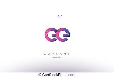 ee e e pink modern creative alphabet letter logo icon...