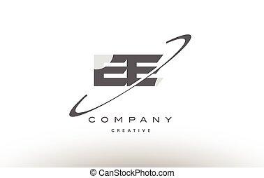 ee e e swoosh grey alphabet letter logo - ee e e grey swoosh...
