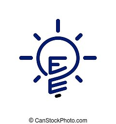 EE Initial Letter with creative bulb Logo vector element....