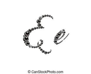 Ee Onyx Script Jeweled Font - Ee in stunning Onyx Script...