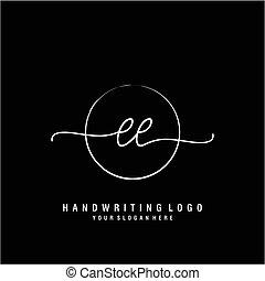 ee, tervezés, kezdő, kézírás, jel