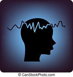 EEG - electroencephalogram symbol