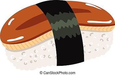 Eel Maki Sushi - Illustration of Japanese cuisine sushi...
