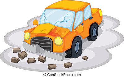 een, auto-ongeluk