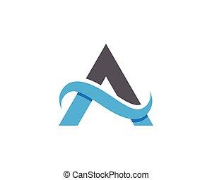 een, brief, logo, mal