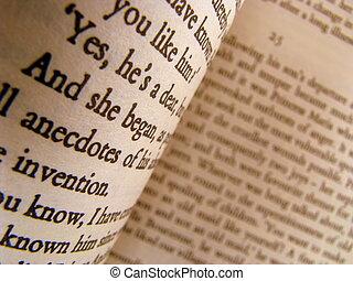 een, close-up, van, enig, pagina's, van, een, classieke,...