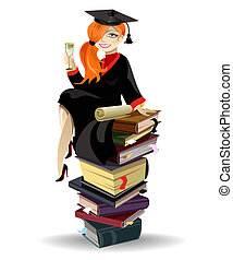 een diploma behaald, meisje