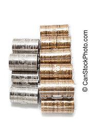 een, dollars, muntjes, twee, canadees