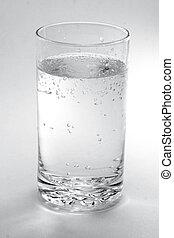 een, glas water