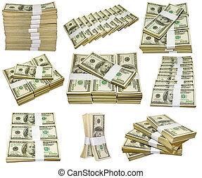 een, goed, delen, van, geld