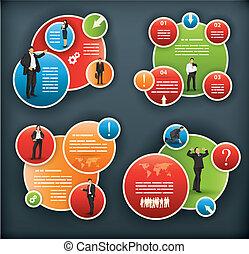 een, infographic, mal, voor, collectief, en, zakelijk