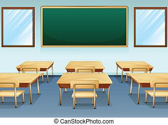 een, klaslokaal