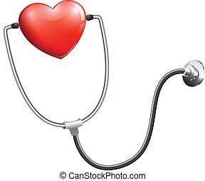 een, medisch, stethoscope