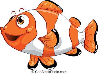 een, nemo, visje