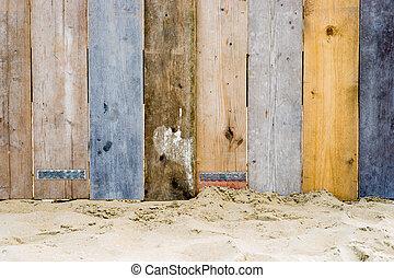 een, ouderwetse , houten hek