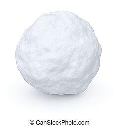 een, sneeuwbal