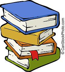 een, stapel boeken