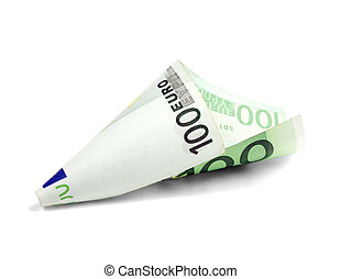 een, undred, rekening, eurobiljet