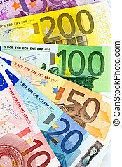 een, ventilator, van, euro banknotes