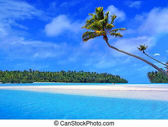 een voet eiland