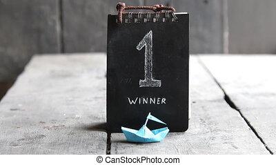 een, winnaar, plek, getal, eerst