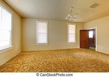 Levend, muren, kamer, gele. Woonkamer, gele muren,... stockfoto\'s ...