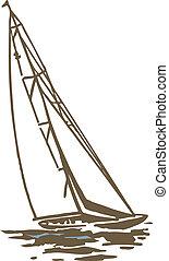 een, zeilboot