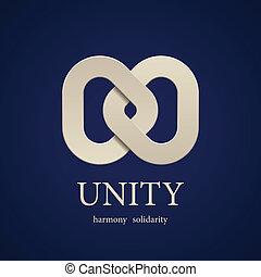 eenheid, vector, ontwerp, symbool, mal